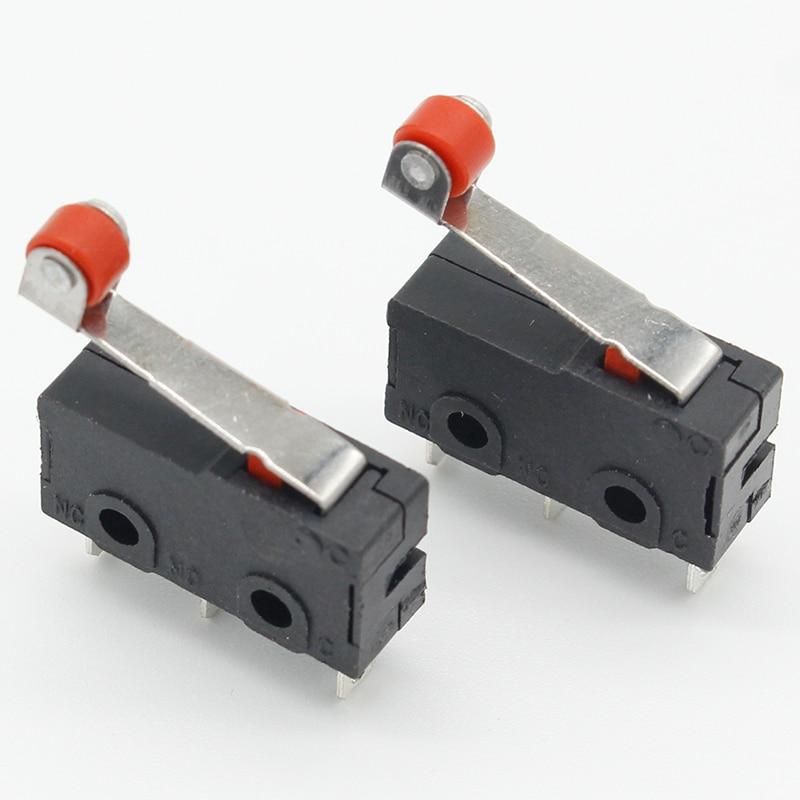 10 Pcs Mini Micro Limit Switch Roller Lever Arm SPDT Snap Action LOT