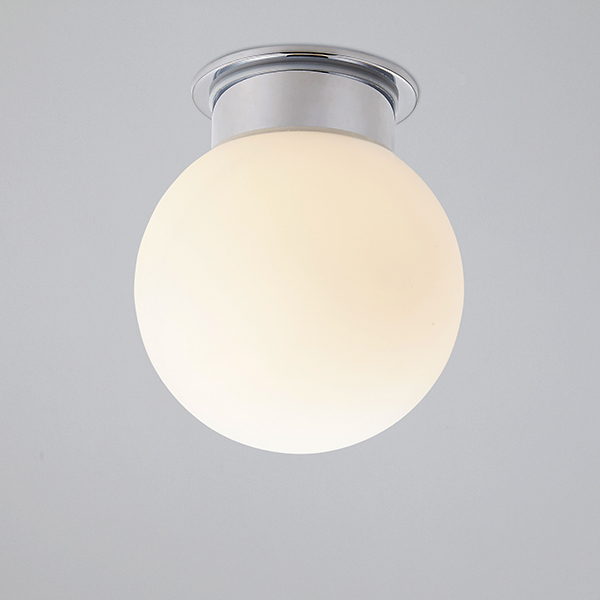Modern Ceiling Mount Round Glass Sconces lights Fixture bathroom ...