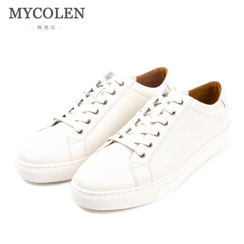6659e1fc0e1 MYCOLEN Spring/Autumn Men Shoes 2018 Fashion Brand Fashion New Lace-Up  Breathable Men Casual Shoes Leisure Men Sneakers Footwear
