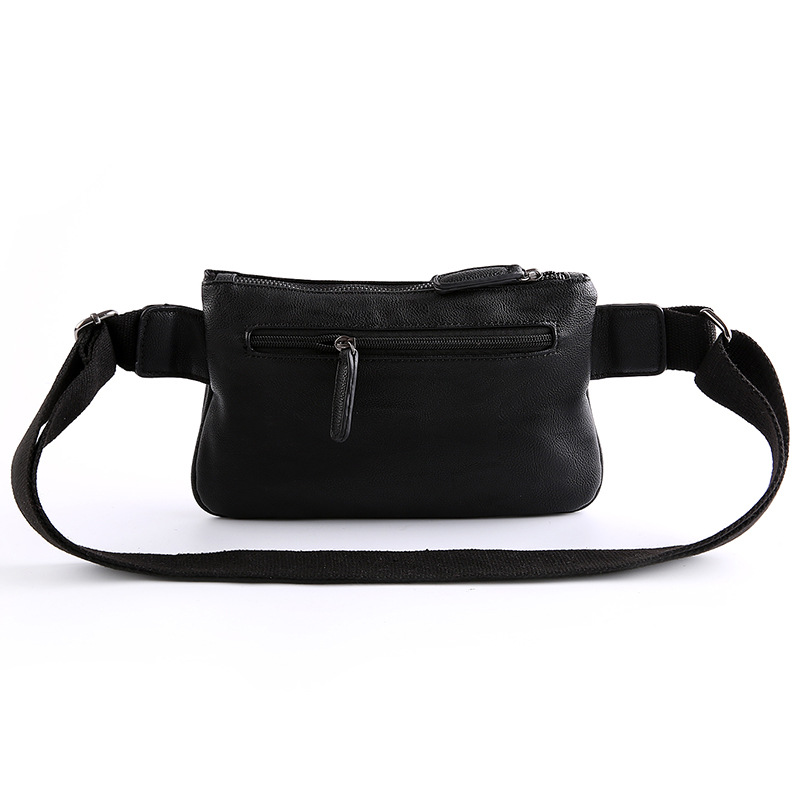 8b18c5d21f3b9 2017 New Men s Leather Waist Packs Fanny Pack Belt Bag Hip Bum Belt Pouch  Mobile Phone Bag For Male Small Messenger Shoulder Bag-in Waist Packs from  Luggage ...
