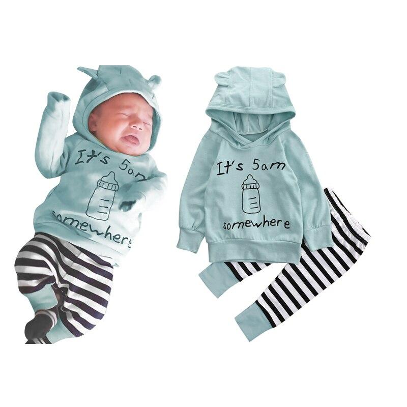 Babykleding Print.Babykleding Set Kids Jongens Meisjes Brief Print Lange Mouwen Katoen
