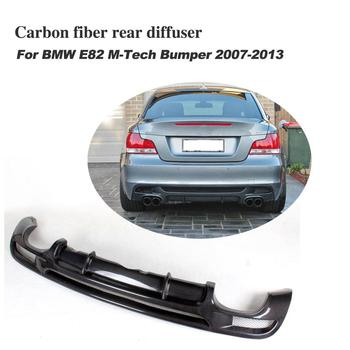 Carbon Fiber Rear Bumper Diffuser For BMW E82 E88 M Sport 2 Door Only 2007-2013 Convertible Four outlet Exhaust Diffuser image