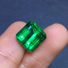 GRS certificated 6.52ct Zambia Origin Faceted Vivid Green Natural Emerald Gemstones Loose Gemstones Loose Stone Gems цена в Москве и Питере