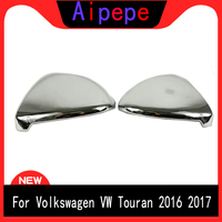 For Volkswagen VW Touran 2016 2017 ABS Chrome Car Reaview Mirror Cover Rearview Mirror Trim Car Accessories