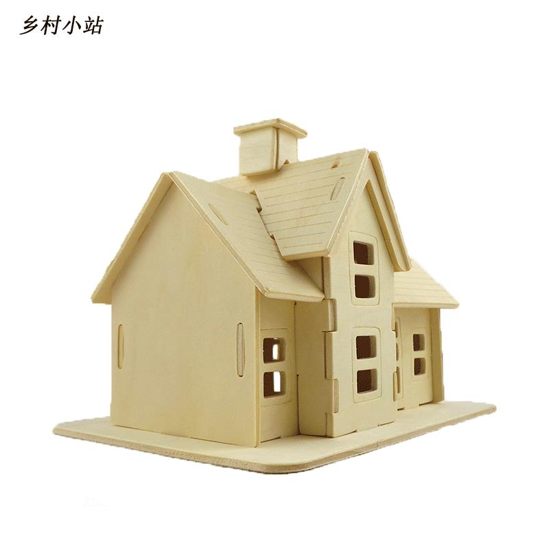 Aliexpress Com Buy Bohs Educational Toys Wooden Build House Miniature Model 3d Diy Country Station Design Scale Models 19 5 14 5 16cm From Reliable Toy