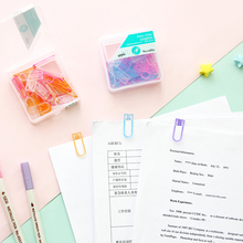 4 set/Lot Macaron color bookmark Kawaii plastic paper clips for file index page holder School supplies paperclips FC480 sf1361 page 4
