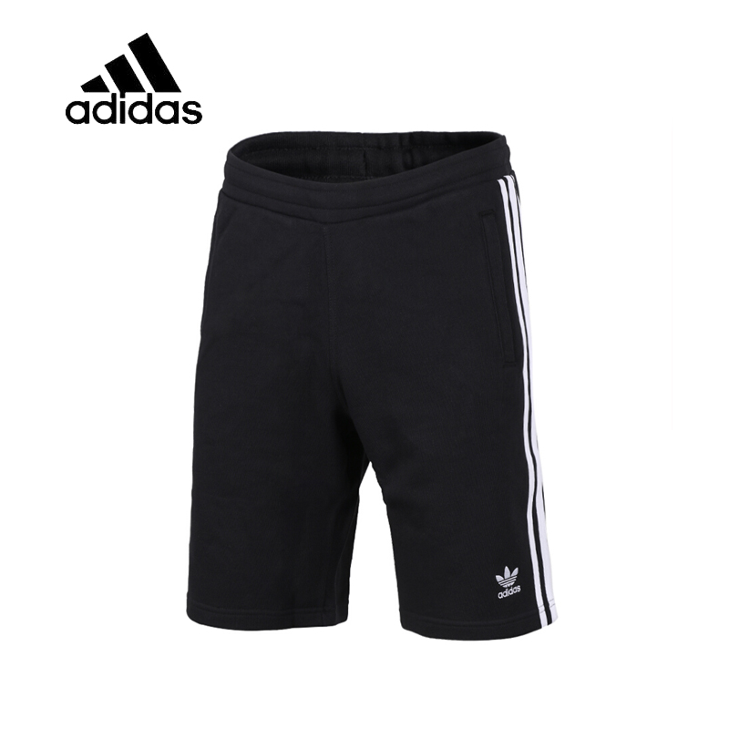Original Authentic Adidas 3-STRIPES Men Trainning Exercise Running Shorts Male Black Leisure Sportswear Breathable New Arrival