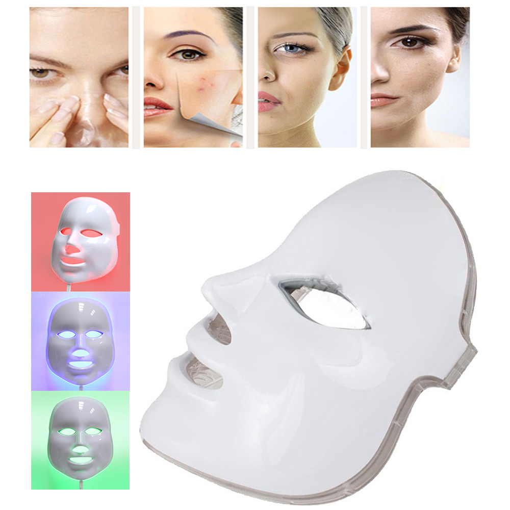 7 Colors Photon LED Facial Mask Microdermabrasion Rejuvenation Acne Wrinkle Removal Spa Beauty Salon Device Face Skin Care Tools 7 colors pdt photon therapy led face mask skin rejuvenation wrinkle acne removal anti aging spa facial beauty machine raiuleko