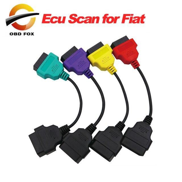 ل فيات ECU 6/4/3 قطع كابلات ل فيات ECU مسح و Multiecuscan محول OBD2 موصل التشخيص كابل محول شحن مجاني