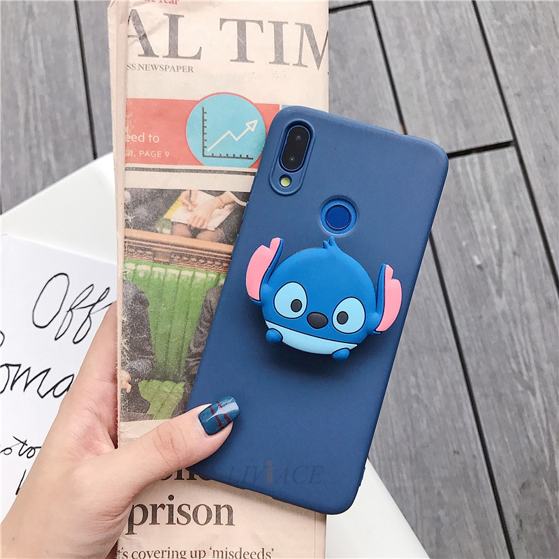3D Cartoon Silicone Phone Standing Case for Xiaomi And Redmi Phones 25