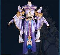 The glory of king Luna fairy Cosplay Costume Chinese Style women dress purple W