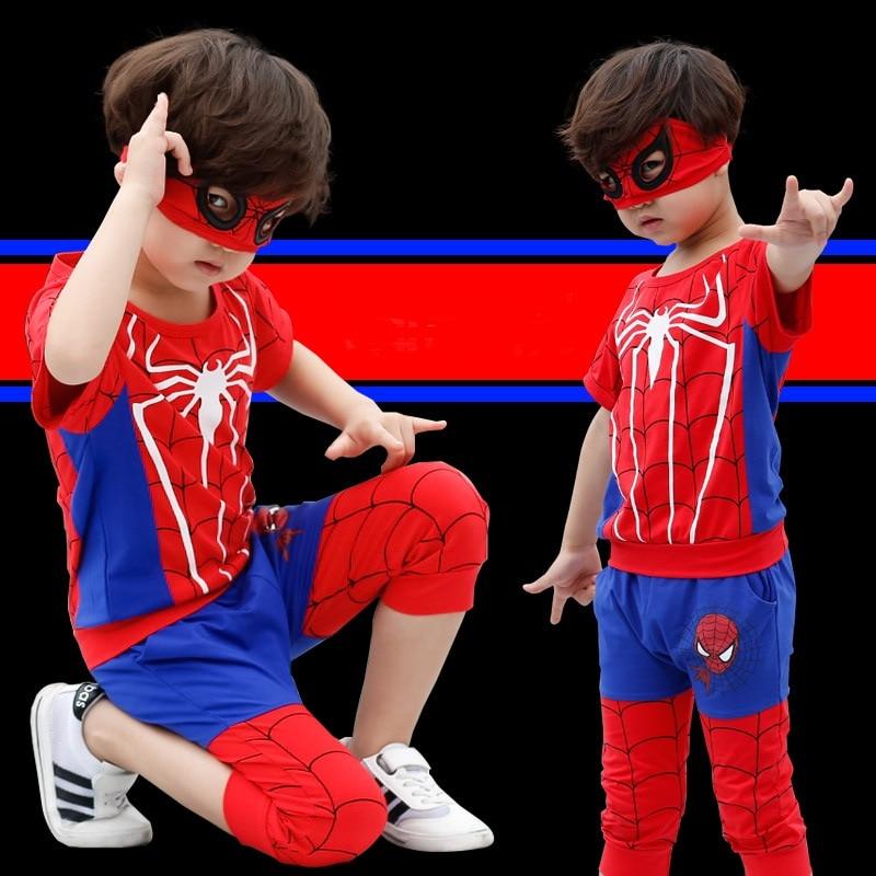 High quality Boys clothes set Spider Man Suits the boy cartoon Sets T-shirt+Half pants The fashion leisure streets suit P034 kraftwerk kraftwerk the man machine remaster