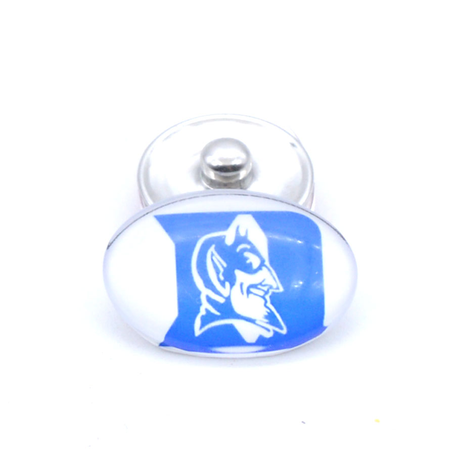 Snap Button 18mmX25mm NCAA Duke Blue Devils Charms Interchangeable Buttons Bracelet Basketball Fans Gift Paty Birthday