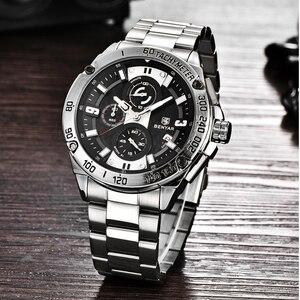 Image 3 - BENYAR メンズ腕時計ゴールド腕時計男性クォーツ時計軍 Wriswatch メンズトップブランドの高級クロノグラフ時計レロジオ Masculino