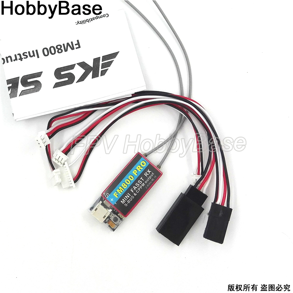 Mini récepteur Fasst RX FM800 Pro 2.4G Support SBUS CPPM Compatible pour Futaba RC CC3D Naze32 F3 Racing quadrirotor