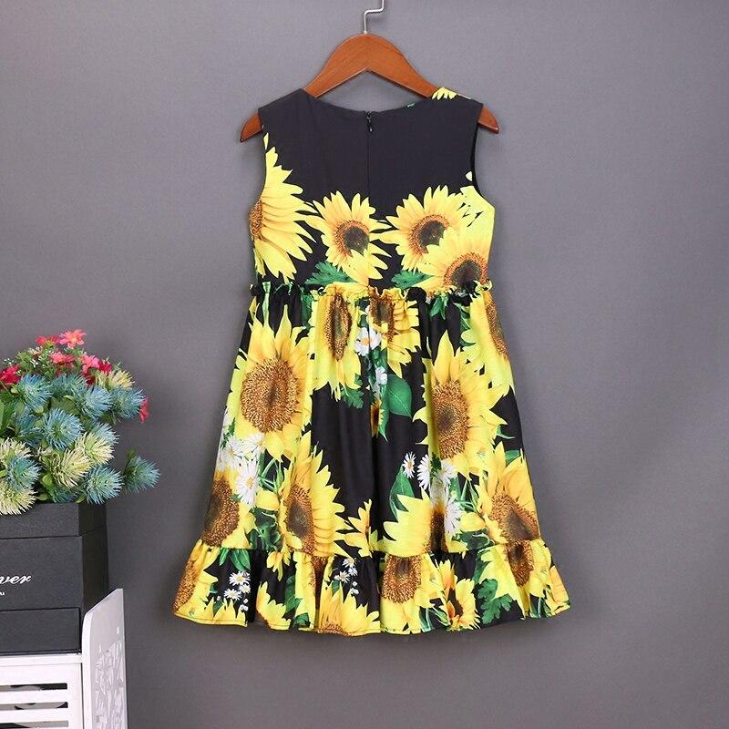 Sommerfrauen-Säuglingssonnenblumendrucke kleiden die - Kinderkleidung - Foto 2