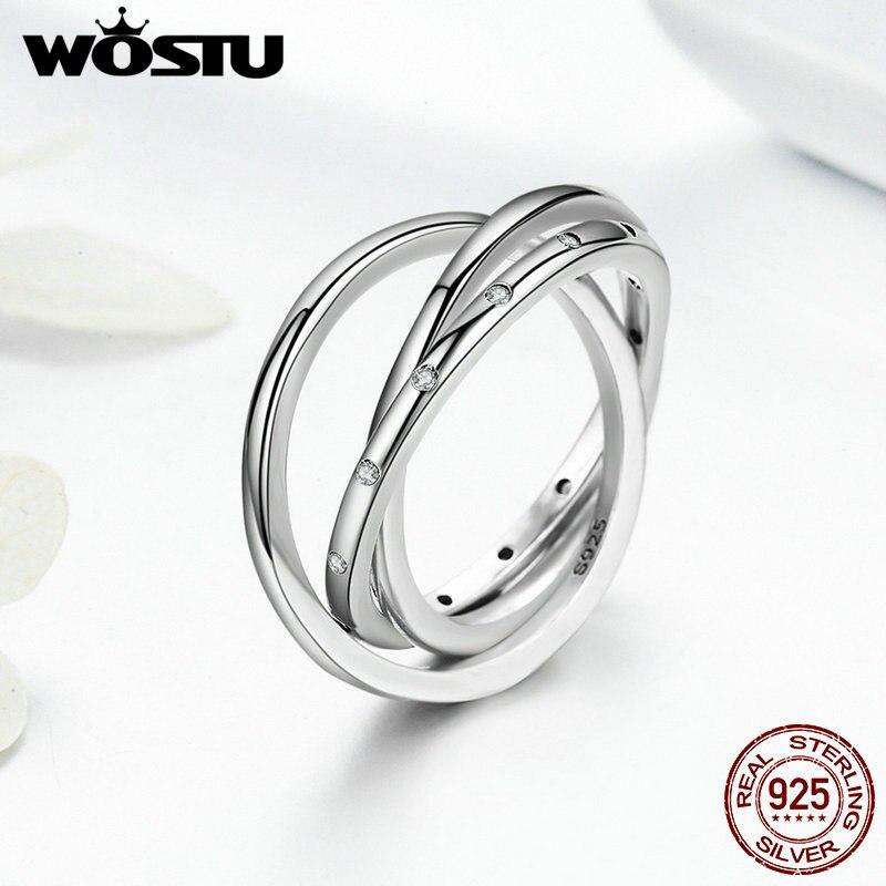 innovador remolino wostu nueva llegada autntica plata de ley anillos para las mujeres de joyera