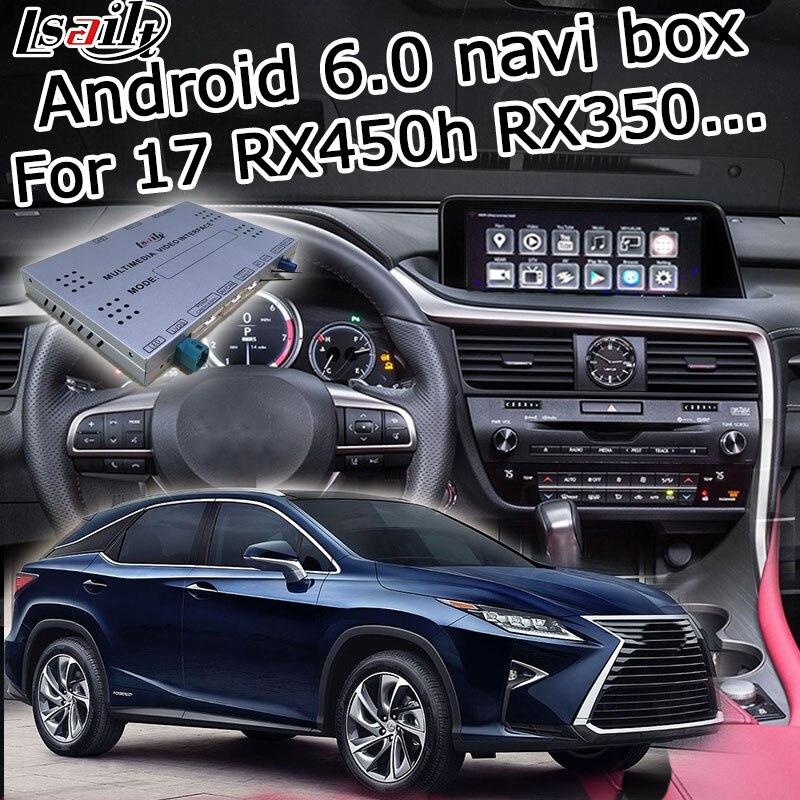 Android 6.0/7.1 GPS box navigation pour Lexus RX 2016-2019 12.3 vidéo interface avec bouton souris à distance touch control RX350 RX450