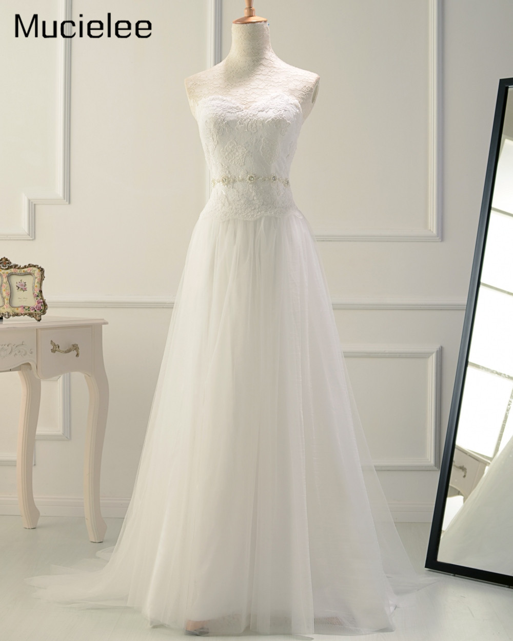 Vestido de noiva 2017 real photo lace cheap wedding dress for Cheap wedding dress from china