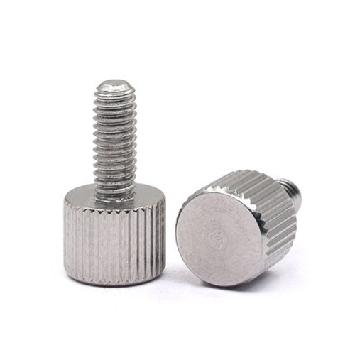 5Pcs <font><b>M2</b></font> Single knurled head hand screw round thumb screws handle <font><b>bolts</b></font> Stainless Steel <font><b>3mm</b></font>-12mm Long image