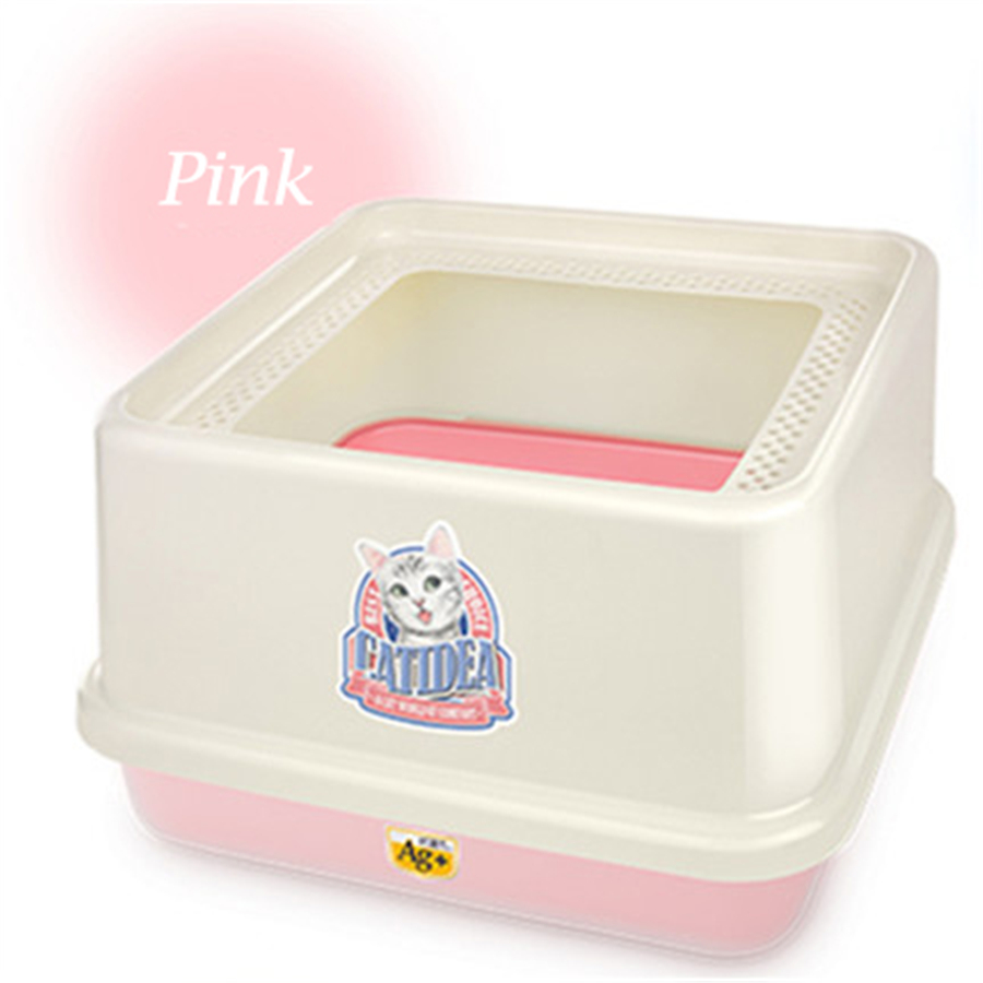 large plastic cat litter box scoop cofre restroom animal toilet for cats dog tray sand cat. Black Bedroom Furniture Sets. Home Design Ideas