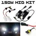 AC 12 V Ultra Brillante H8/H9/H11 150 W Faros HID Lastre Digital Kit de conversión de Luz de Xenón 43 K 6 K 8 K de Niebla de La Motocicleta de Conducción DRL