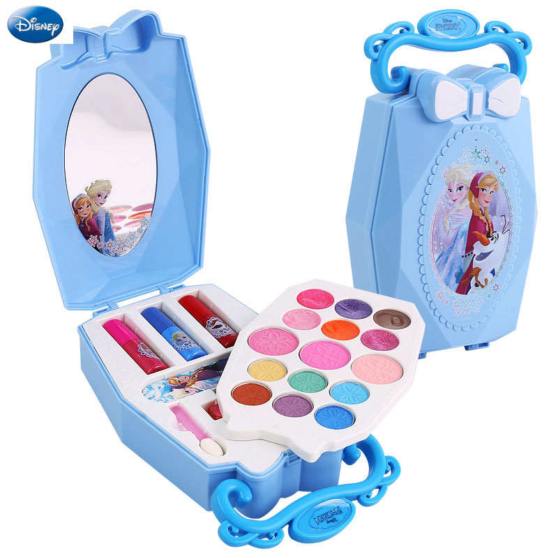 Disney Pretend Play Frozen Beauty  Fashion Toys Children's Cosmetics Non-toxic Makeup Washable Cosmetic Case Makeup Toys