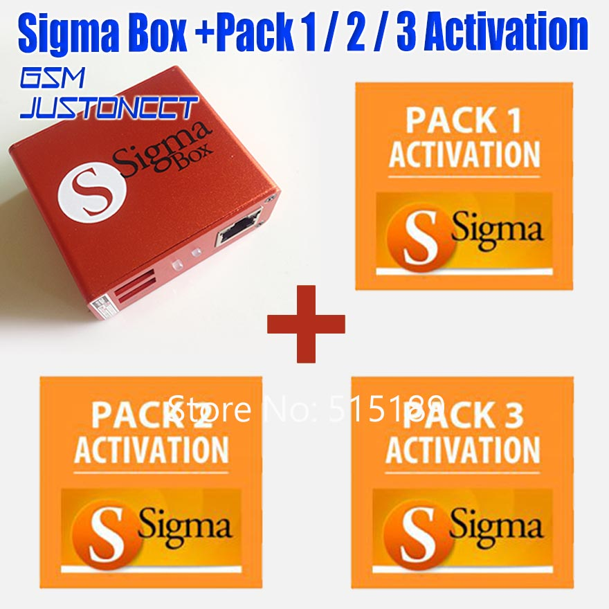 Gsmjustoncct sigma boîte + pack1 + pack2 + pack3 activé/SIGMA boîte + PACK1 + PACK2 + PACK3 pour Huawei