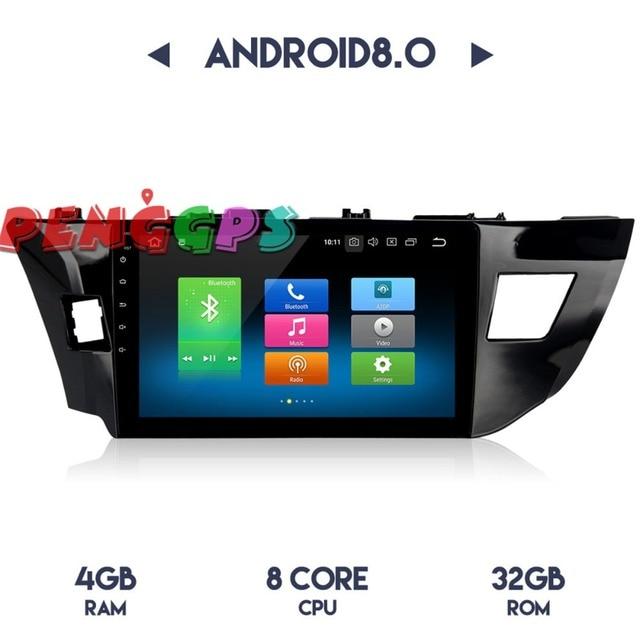 أندرويد 8.0 7.1 سيارة راديو ستيريو هيدوحدة غس نافيفاتيون لتويوتا كورولا 2014 2015 2016 لا مشغل أسطوانات للسيارة لاعب الوسائط المتعددة الصوت