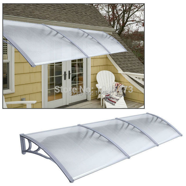 Ship From UK 1m X 3m Garden Patio Door Canopy Cover Front And Back