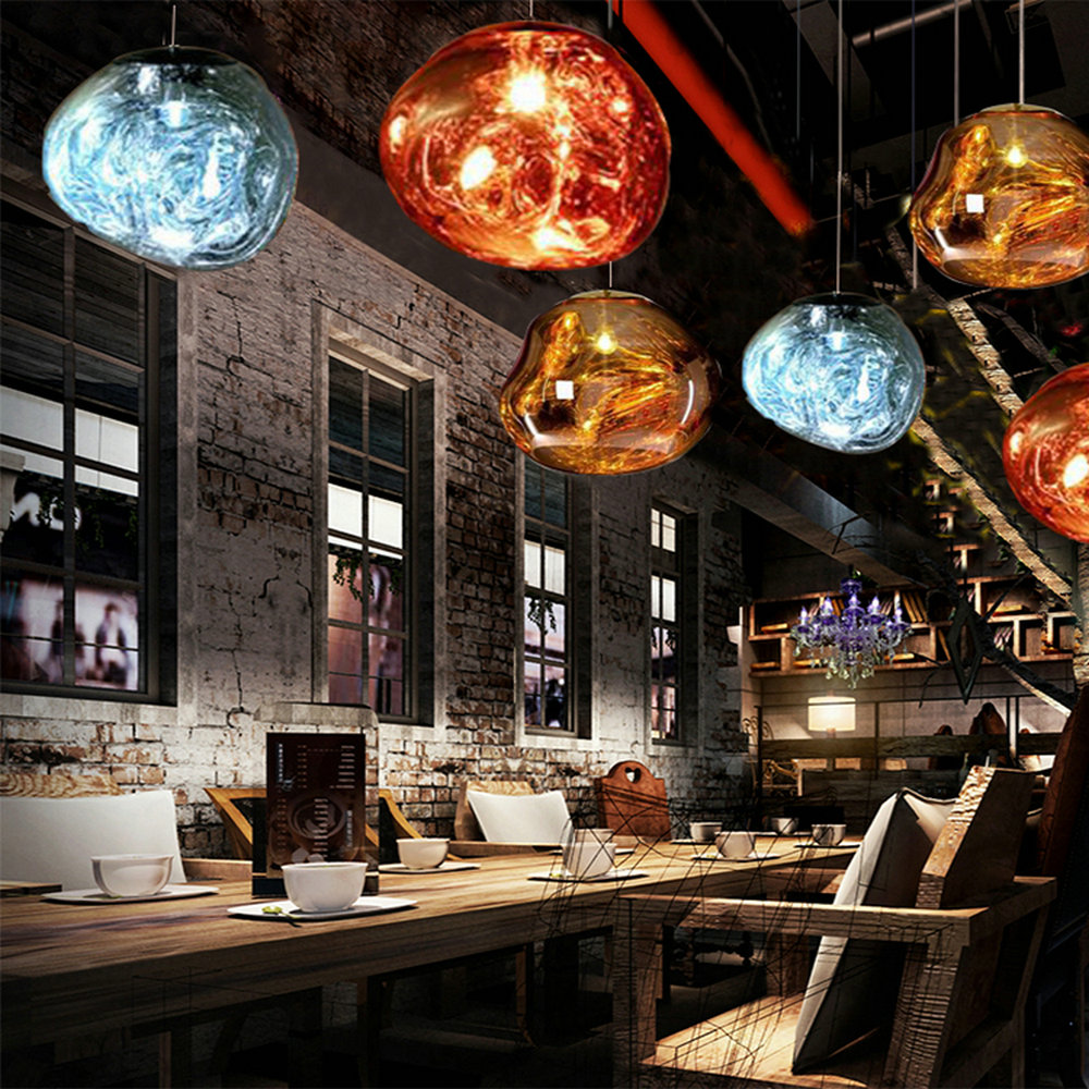 Vintage Modern LED Loft Nordic Decor Gold Glass Pendant Lights Fixtures Hanglamp Industrial Design Lamp for Kitchen Bedroom Bar