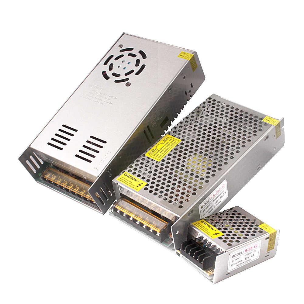 12 V Питание DC12v 2A 3A 10A 12.5A 15A 20A 25A 30A освещение Трансформатор 220 V 12 V Светодиодный драйвер переключатель Адаптер для Светодиодные полосы света