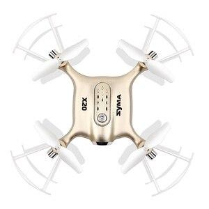 Image 2 - Syma X20 Mini Drone Dorato 2.4G 4CH 6 aixs Tasca di Telecomando Elicottero Quadcopter Gyro RC Dron 3D flip Bambini Giocattoli regalo