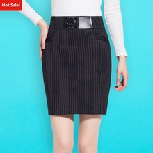 No.8 Shop 2016 Women's Striped Skirts Winter Pencil Skirt Plus Size Skirts Good Quality Work Skirt Mini Skirts A80152