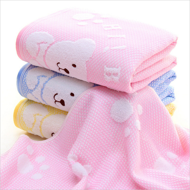 Lovely Baby Bath Towel 100% Soft Cotton Comfortable Drying Bath Baby Towel Baby Blanket Bath Towel for the Baby TT051