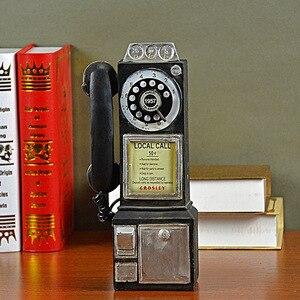 Image 2 - Домашний декор, винтажная модель телефона, настенные подвесные украшения, ретро домашняя мебель, фигурки, миниатюрное украшение для телефона, подарок