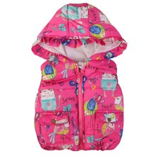 Winter Children Clothing Baby Girl Animal Graffiti Thick Vest Kids Girls Princess Hooded Waistcoat Warm Jackets Outerwear