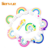 DIY Rainbow Candy Addition For Slime Polymer Bead Filler For Slime Charms Accessories Modeling LiZun Kit Toys Clay Slime Gift