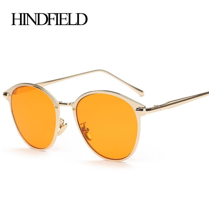 HINDFIELD font b Fashion b font Luxury Metal Sunglasses font b Women b font Design Glasses