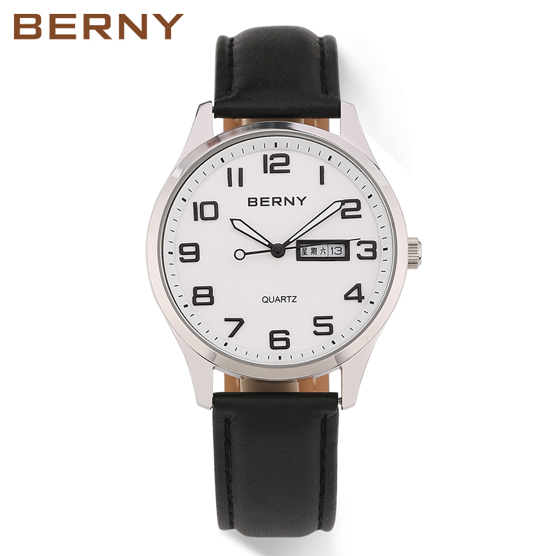 Berny Men Watch Quartz Mens Watches Fashion Top Luxury Brand Relogio Saat Montre Horloge Masculino Erkek Hombre JAPAN MOVEMENT цена
