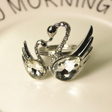 10PCS diamond napkin ring European luxury buckle hotel wedding table decoration Swan mouth cloth