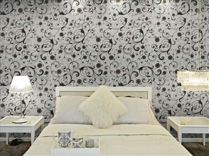 Photo Tapete Black Self Adhesive Warpaer Light Reflective Wallpaper Wallpapers Wall DP 1307 In From Home Improvement On Aliexpress