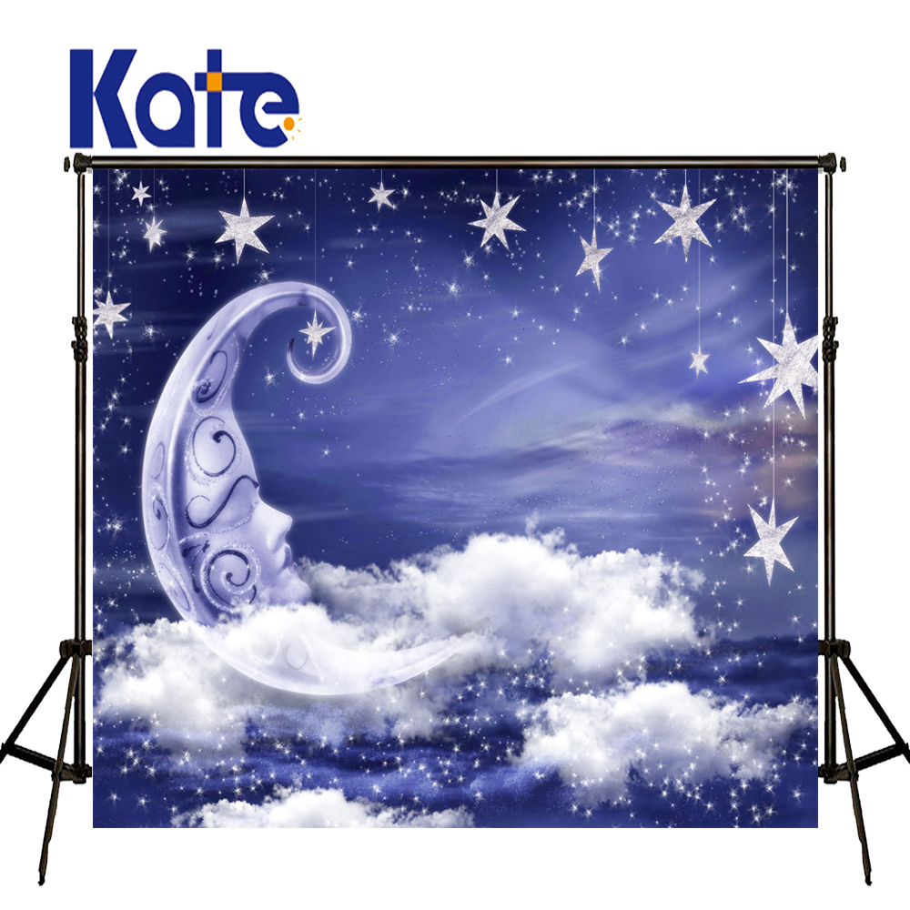 KATE Photography Backdrop Baby Fairy Background Twinkle Little Star and Moon Ship Photo for Kids Backdrop for Children'S Party vinyl photography background fairy tale