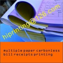 Оптовые покупки на заказ A4/A5/A6 книжка счетов-фактур печать, 50-65 г безкарбонат/Бумага NCR квитанция/вексельная книжка в дубликате/триплике