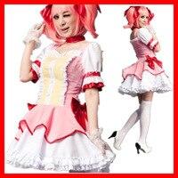 M L Puella Magi Madoka Magica Cosplay Girl Halloween Kaname Madoka Costume Women Cosplay Dress Maid
