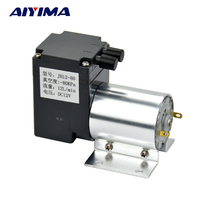 Aiyima DC12V vacuum pump small negative pressure suction suctio pump Diaphragm pump 12L/min 80 kpa