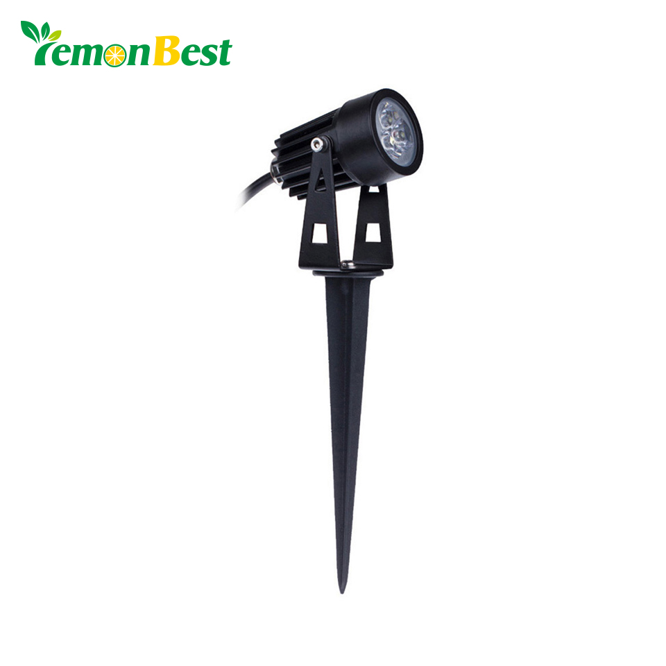 LemonBest 10pcs lot 12V LED Garden Light 3W IP65 Waterproof Outdoor Lighting Spot Flood Lawn Lamp