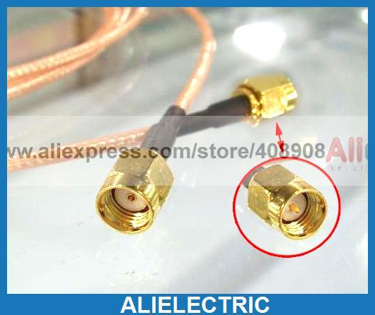 10pcs SMA Male Plug to RP SMA Plug Female Jack RF Pigtail Cable RG316 20cm стоимость