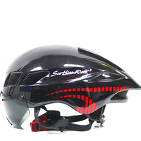 2017 Mtb Mountain Road Bike Bicycle Helmet With Lens Visor Glass Capacete Da Ciclismo Cascos Ciclismo