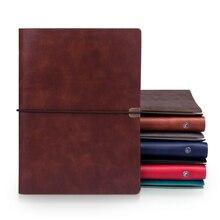 RuiZe, Ретро стиль, B5, Обложка для ноутбука, дневник для путешествий, A5, кожаный спиральный блокнот, планировщик, 6 колец, записная книжка
